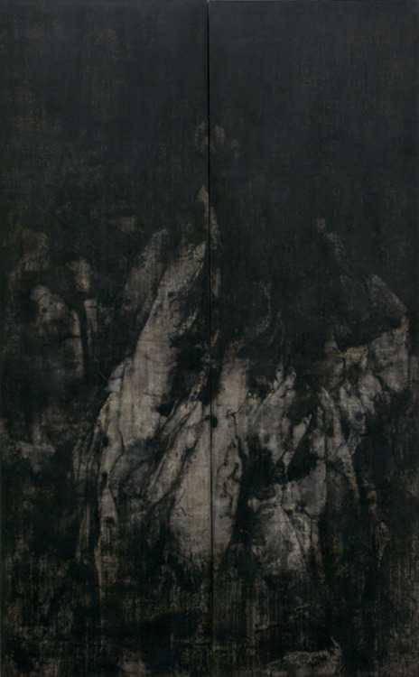 nearlya:  Cao Jigang.'Silence and Meditation' (2011) tempera on canvas