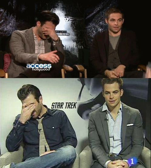 treksfromlastnight:  zachary quinto: having none of chris pine's shit since 2009