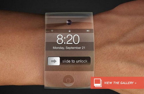 andrchelsea:  discoverynews:  Is Apple Developing a Smart Watch? What will it look like? Speculation is rampant, and yet, no official word…  My brain just essploded.  I'm not sure if I see the upside in developing a lesser version of an iPhone that you wear on your wrist. Does anyone even wear watches anymore?