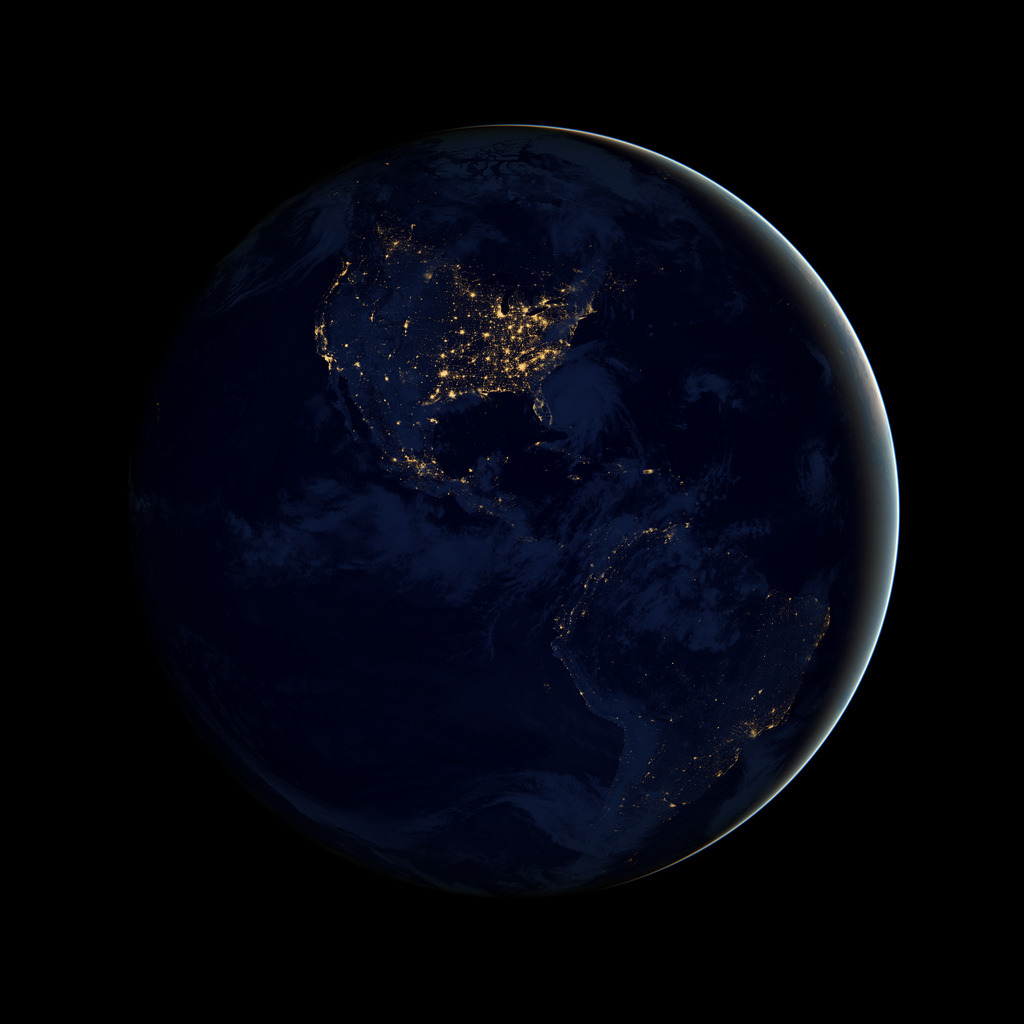 "NASA has released a new photograph based on the ""Blue Marble"" image that captivated us all in 1972. This is has been taken at night, and has been aptly named the ""Black Marble.""  It's available in ridiculously high resolution on Flickr, making this a perfect poster. NASA Releases Night Versions of Famous Blue Marble Photographs via Pop Photo"
