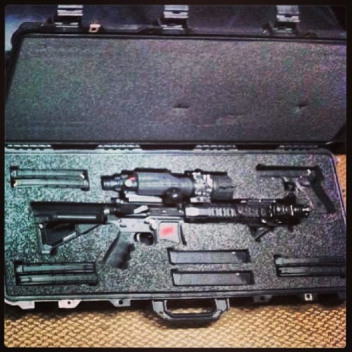 Bug Out kit by Houston Armory…. Bring on the zombies!!! :) (at La Casa Parsons)