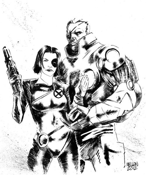 Cable and Domino by Kevin Mellon