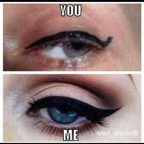 Basically how I feel all the time cause I know my eyeliner is always on point💁 #hateseeinguglywings#petpeeve#mastereditalready#ifyoucantdoitright#dontdoitatall#itscalledawing#notaline#thicktothin#kbye