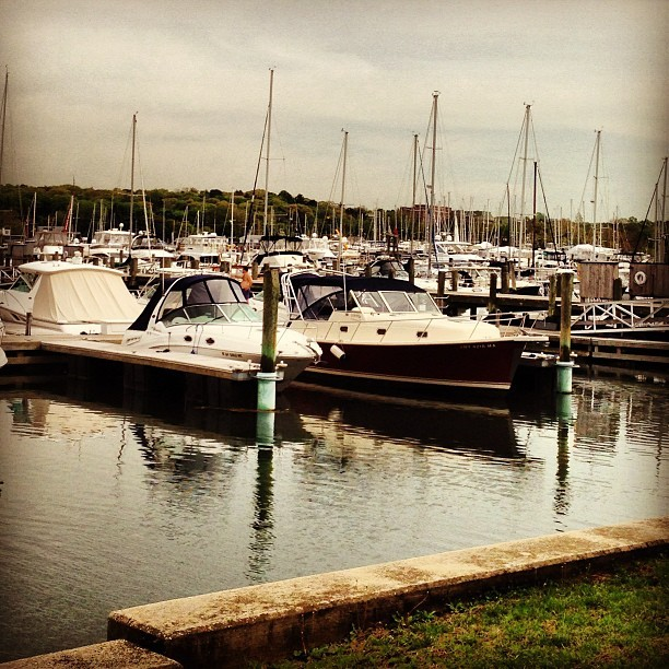 Summer living. #yacht #club #boats and #hoes #dock  (at Huntington harbor)