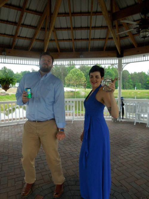 This is obviously the best picture of my from the wedding.