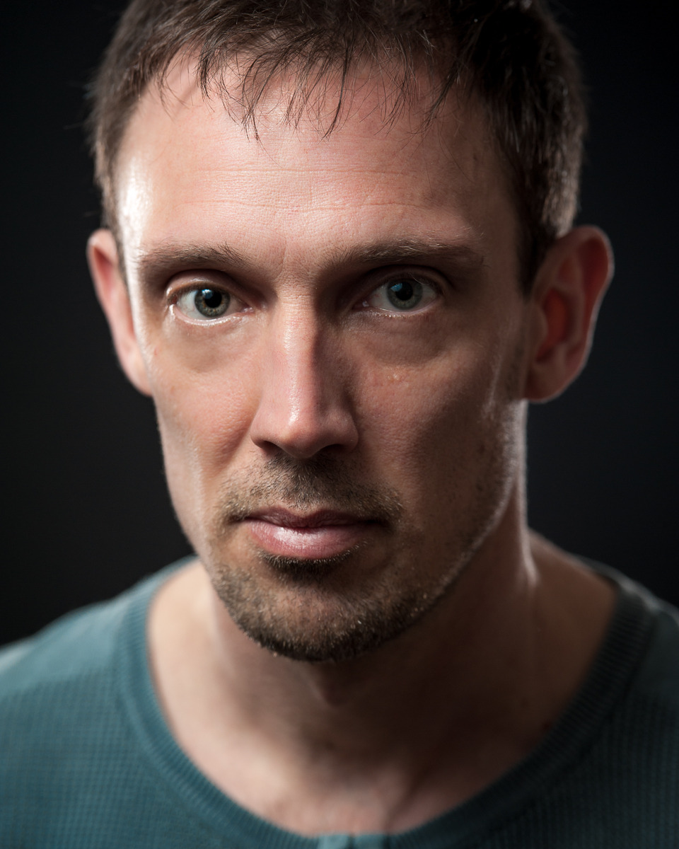 Darren Daly - actor and theatre director Darren can do suave and approachable, but he can also do 'total badass'. While doing his new headshots the other day I couldn't resist taking a little detour and doing a shot with some edgier light. He totally has the cheekbones and stare for it. I don't think this is one for his actors' CV, but when he lands a role in Con Air 2…