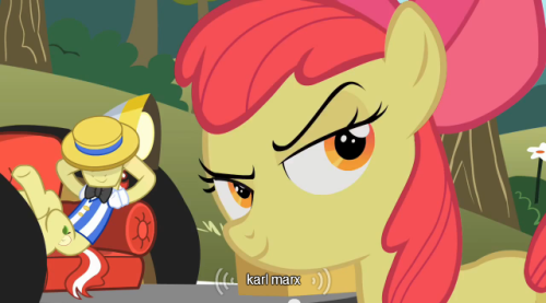 mlp-captions:  Applebloom's idol  headcanon'd
