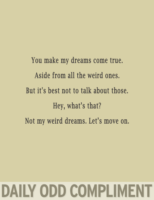 """Weird Dreams"""
