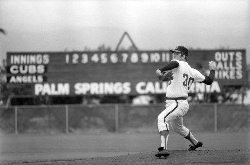 mightyflynn:  Nolan Ryan, Spring Training 1973 Palm Springs, California Los Angeles Times Photographic Archive, Young Research Library, UCLA. via KCET.org