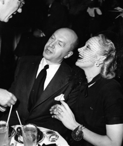 Marlene Dietrich and Otto Premiger at a Hollywood nightspot. December 1947.