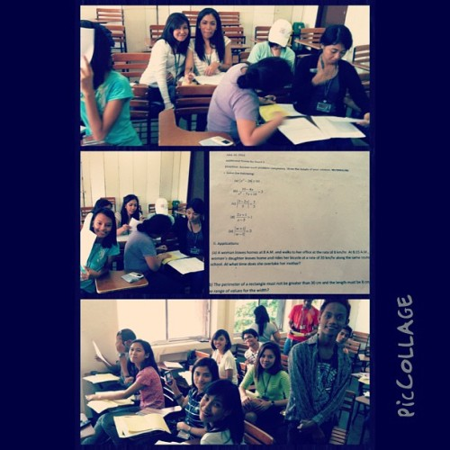 Morning craze for math #educ #math111 #additionalexampoints #piccollage (at Ateneo de Davao University)