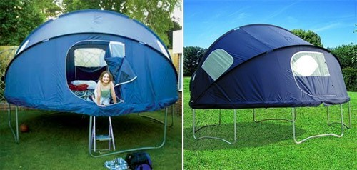 ryanislast:  corrahlovesyou:  considerthishippie:  Trampoline tent for summer sleepovers.   think about all the sex