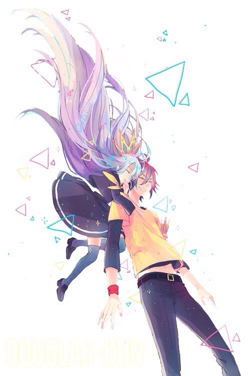 No game no life @WeHeartIt https://weheartit.com/entry/208106133/via/KhaleesiLockhart #anime#anime girl#anime boy #no game no life #lovely#game#smile#hug#sora#shiro