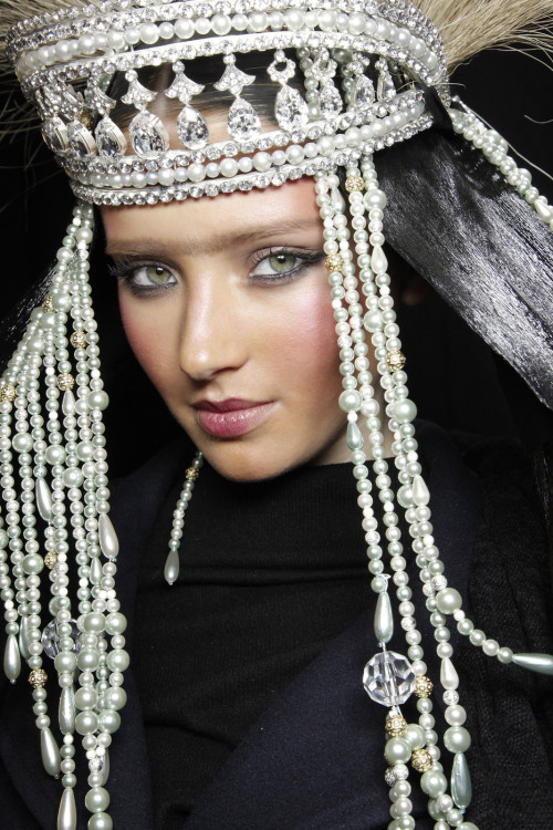 John Galliano f/w 2010 backstage