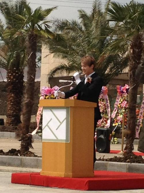 Kim Junsu attends semi-open event of a Hotel in Jeju Island Credit: xiaholic0420 + jjuing_xia + donnatin