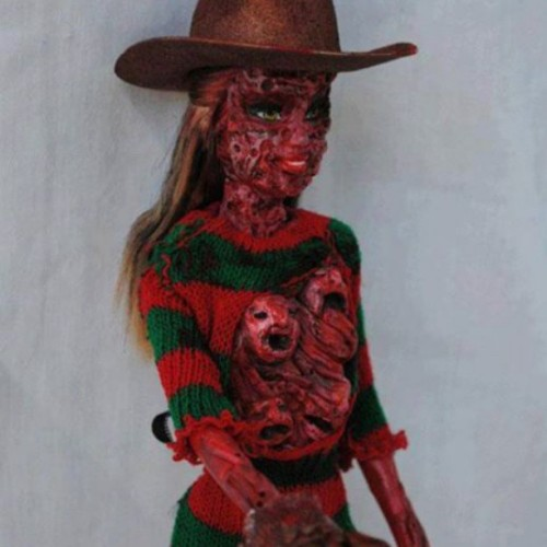 Probably one of the only #Barbies I'd wanna own…. #freddyKruger #horrorfan #horror #theycallmeweird #lol