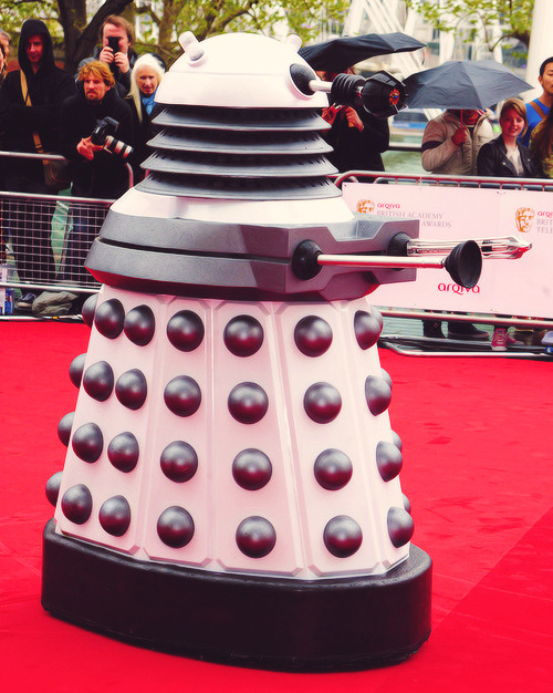 A Dalek on the Bafta red carpet