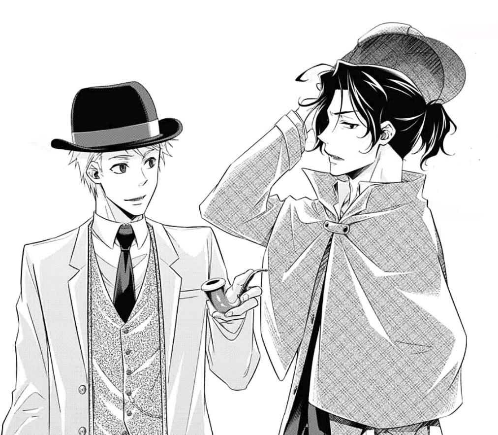 #Manga #Yuukoku no Moriarty #Sherlock Holmes#John Watson
