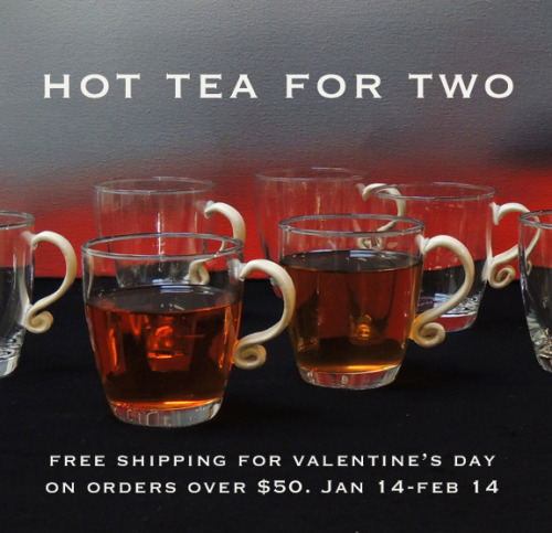"Jan 14-Feb 14 on domestic orders over $50.  These new glass cups can be found here on the ""what's new…"" section http://www.lunagarcia.com/index.php?cPath=29"