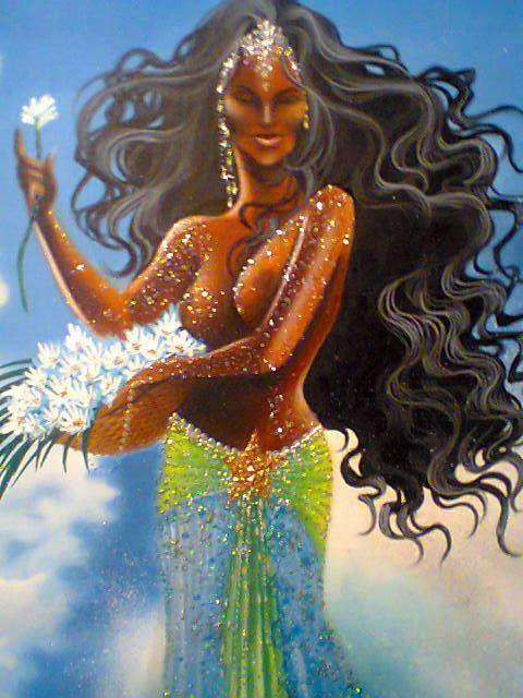 divinemoon:  Beautiful Yemaya! Queen of Heaven, Land and Ocean, mother of all living things. ~ Maferefun Yemaya