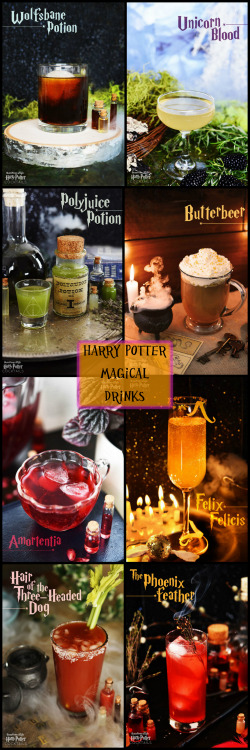 harry potter food party Halloween DIY alcohol recipe cocktails BuzzFeed cocktail butterbeer unicorn blood Harry Potter cocktails 8 harry potter drinks harry potter drinks