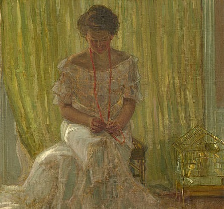 Frederick Carl Frieseke In the Sun (Medora Clark in the Clark Apartment, Paris), detail 1903