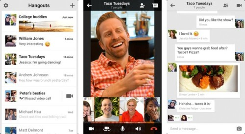 "engadget:  Google launches new Google+ Hangouts platform and mobile apps with focus on conversations  Eagerly waiting for the update to hit my mobile devices, shows and ""OPEN"" button instead of ""INSTALL"" and redirects to Google Talk mobile app."