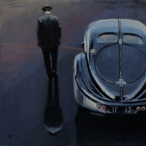 darksilenceinsuburbia:  Iain Faulkner. Solitude. Oil on canvas, 25 x 25 cm.