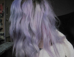 girl cute kawaii Colored colorful purple hair sweet gothic lilac hair lavender pale pastel goth violet hair