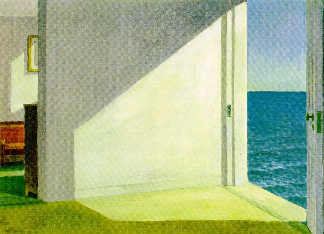 hidingbehindlenses:  Desolation in 'Merica Edward Hopper, Rooms by the Sea, 1951, oil on canvas