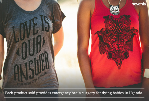 mystandards:  These are more than just shirts. They help fund emergency brain surgeries for children with hydrocephalus!It's a way for parents in Uganda to SAVE their children!Click HERE to get a shirt & help a dying baby LIVE!