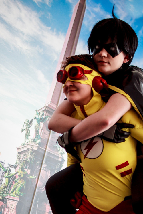 My girlfriend as Kid Flash and me as Robin from Young Justice. So happy we finally made the cosplays *-* They were so much fun!! Photo by Andy