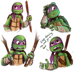sharpie91:  Some Donatello drawings I made last night.
