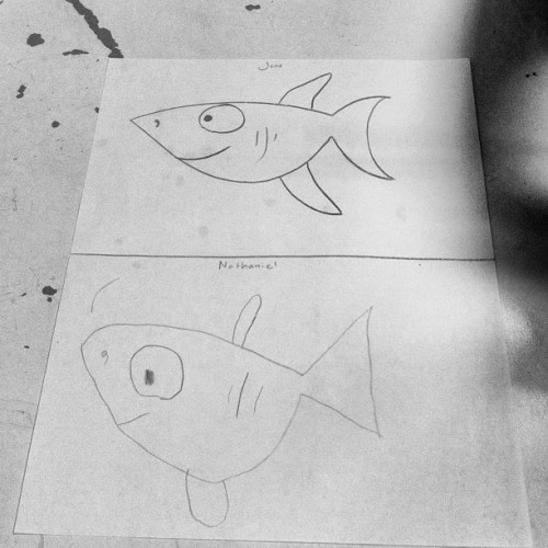 #shark #fish #drawing #sketch #work #therapy #autism #myturnyourturn