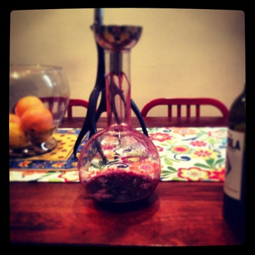 Decanting wine like a god damn adult. #wine #food #liquids #stuff