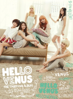 Hello Venus: The 3rd Mini Album '차 마실래?'Release Date: 2nd May 2013 Tracklist:1. 차 마실래? (Would You Stay For Tea?)(Composed by Youngbae & Iggy, Rap-Making by Lime)2. Kiss me (Composed & arranged by Seo Jaeha, Lyrics by Kim Hee Sun) 3. 잠깐만 (Just A Moment) (Special Narration Featuring: Jung Gyu-Woon & After School's Nana)(Composed by Park Sooseok, Lyrics & arrangement by Park Sooseok & Inwoo)  4. 자꾸만 (Again) (Yooara Solo)(Composed, written & arranged by WATT) * To be updated later with track descriptions.(via leesmusic.co.kr)