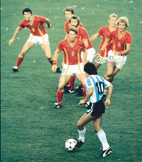 MARADONA // international debut for Argentina 36 years ago today.