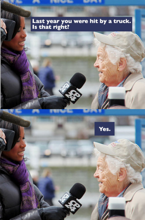 bloodstainedbikinis:  lotsalipstick:  facebooksexism:  breewriteswords:  pleatedjeans:  The mayor of Mississauga, Canada is a badass. via  Hazel McCallion, everbody. 92 years old, 34 years in office, $0 in debt $700 million in reserve Eight prime ministers One truck.  But women aren't strong leaders… OH WAIT.  Its true, Mayor Hazel is unstoppable!! Its even better that she made me so proud to be from Mississauga ANDyou almost always run into her around town!  OMG yes