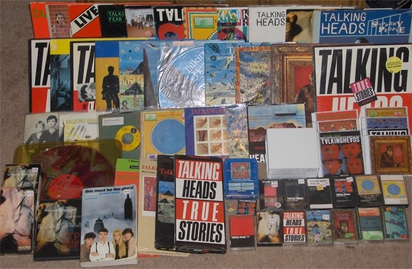 talking heads collection (2007): has since all been given away to good souls as i go through periods where i can't comfortably own too many luxury items.