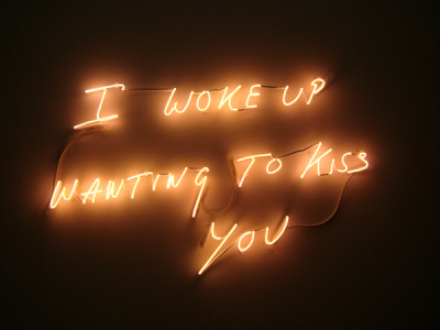 artruby:   Tracy Emin, I Woke Up Wanting To Kiss You (2010).
