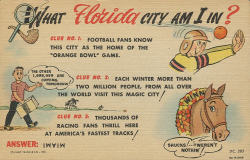 oldflorida:  Humorous Miami Postcard