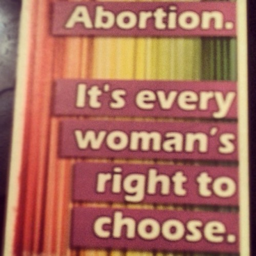 Sticker on my laptop # prochoicecork #prochoice #ARC #freesafelegal