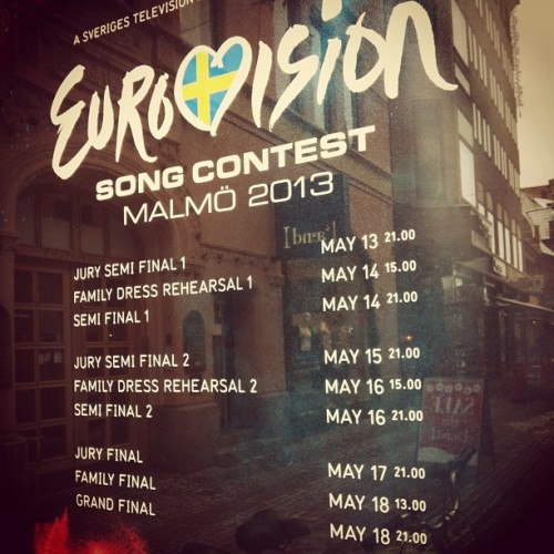 Now preparing for the #eurovisionsongcontest #esc in #malmo !!! Welcome!