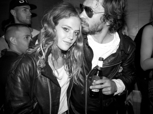 Chelsea Schuchman the moment she met Olivier Zahm at the Purple bash.  Photo by Brad Elterman