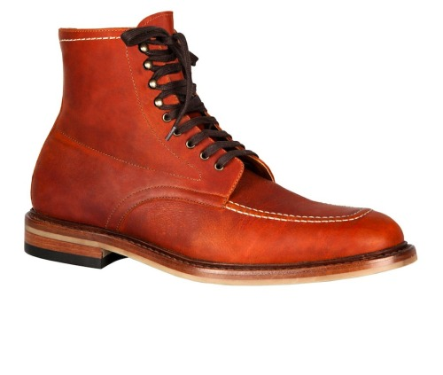 On their way: Purificacion Garcia Cognac Leather Boots