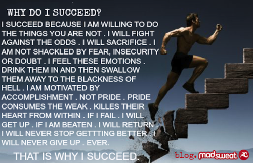madsweat:  Why Do I Succeed?