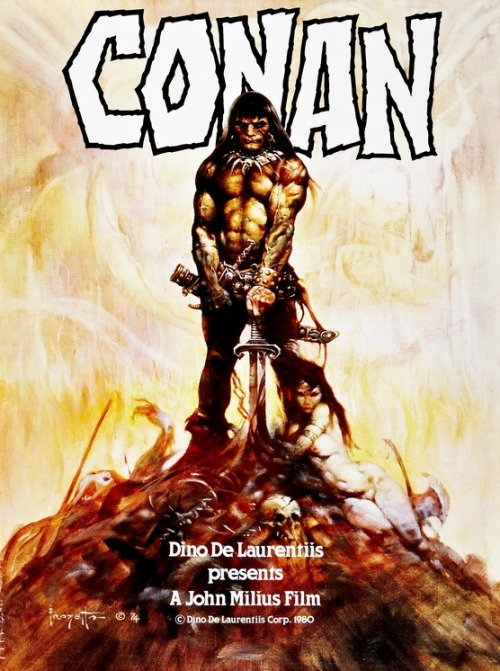 Conan The Barbarian (1982)Poster Art by Frank Frazetta