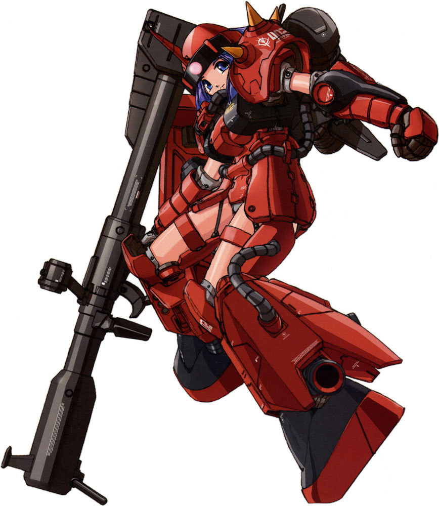 MS-06R-2 Zaku II Girl by  Akitaka Mika More MS Girls here!