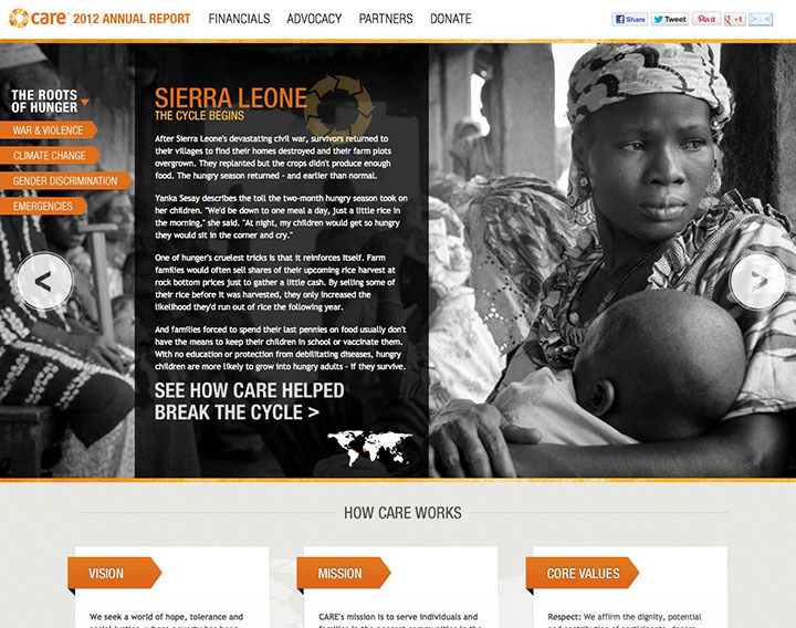 One of my images from Sierra Leone used in CARE's 2012 annual report. www.care.org/ar