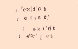 debilitating:  i exist i exist i exist by flatsound